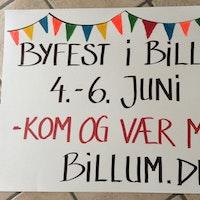Info-skilte i Billum
