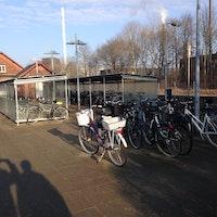 Ny cykelparkering ved Ølgod Station