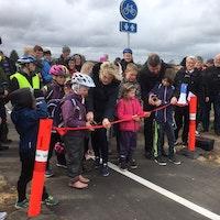 Indvielse af ny cykelsti